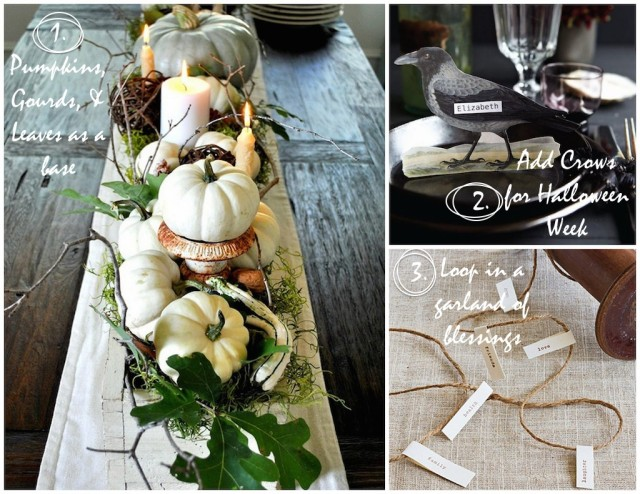 Pumpkins + Crows + Blessings | Kitchen Pots & Tabletops