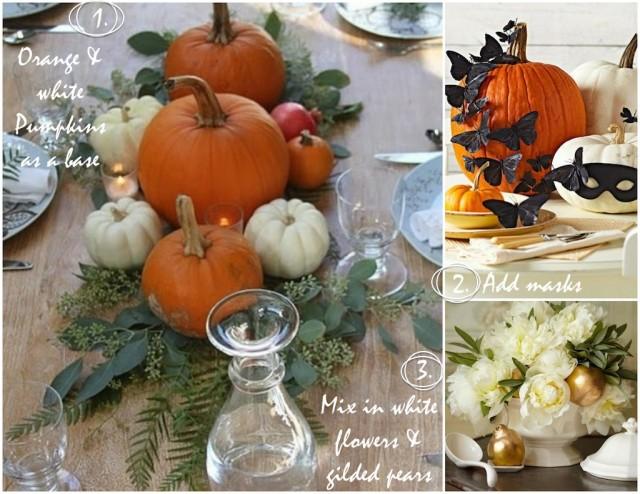 Pumpkins + Masks + Flowers | Kitchen Pots & Tabletops