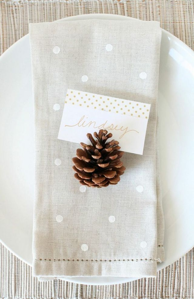 Pinecone Table Setting
